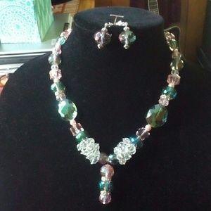 Jewelry - Lola De Shea necklace and earrings.